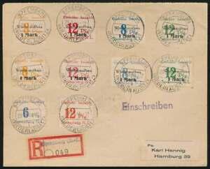 SPREMBERG Nr. 10+12, 19-20 + 21-22 A/B a. R-Brief 29.3.46 (42096)