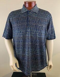 JHANE BARNES Men's Multicolor Geometric Print Pocket Polo Shirt Size XL NEW