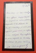 Auguste MAQUET - Lettre autographe signée / Alexandre DUMAS