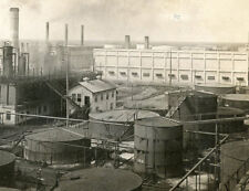 CRUDE OIL STILLS AND CAN FACTORY PORT ARTHUR TEXAS STEREOVIEW