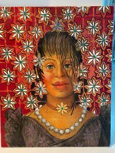 LARGE ORIGINAL OSIRIS DELGADO OIL  CANVAS 2007  PUERTO RICO RICAN  LATIN MASTER