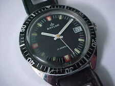 Vintage Baylor Divers Watch Swiss Made 600 FT. All Original Rubber Dive Band