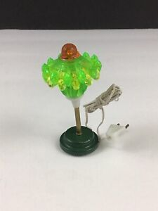 Vintage Early Americana Miniature Dollhouse Green Lamp Shackman