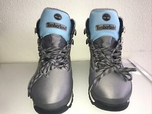 New Timberland Euro Hiker Men's Boots A2274 A3949 Gray/Blue/Pink Size 10
