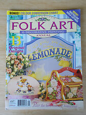 Folk Art & Decorative Painting Vol 12 #2~Lemonade~Fish~Rose Clock~Tulips~Russian