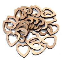 24x Herzen Holz natur offen groß, 4,5cm x 0,5cm / NICE PRICE !!!