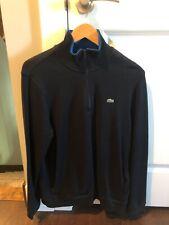 Lacoste 1/4 zip black sweater size large (6)