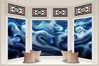 Huge 3D Bay Window Halloween Ghost & Ghouls View Wall Stickers Wallpaper 773