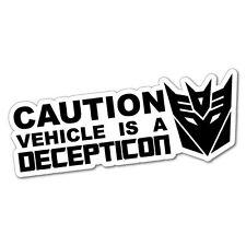 Warning Funny Robots Vehicle Sticker Decal JDM Car Drift Vinyl Funny Turbo