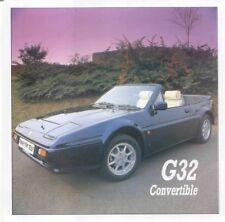 Ginetta G32 Cabriolet Original UK Feuillet Unique vente brochure non daté