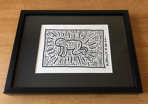 Original Keith Haring Drawing Signed 1982 - COA + Letter of Provenance