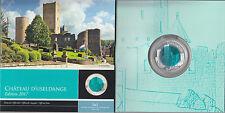 Luxemburgo 2017 Cartera Euroset 5 € euros Bimetálica Plata Niobio Useldange