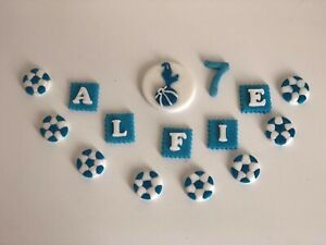 Football sports logo footie spurs personalised cake topper birthday decoration