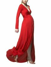 Isabella Oliver RED CARPET MAXI DRESS L 12 14 Maternity Long Sleeves Evening
