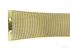 Uhrenarmband für Skagen 523SGG 380S Mesh Milanaise Edelstahl PVD gold Ersatzband