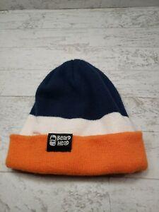 Beard Head Winter Hat Broncos Colors Blue Orange Knitted Novelty Beanie