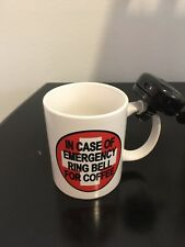 Ring Bell for Coffee - Mug with Real Bike Bell Souvenir Gift