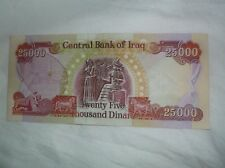 25,000 IRAQI DINARS IRAQ MONEY UNCIRCULATED PAPER MONEY NOTE BILL (9 available)