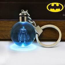 Justice League Batman 3D Crystal Ball LED RGB Night Light Key Ring Chain Gift