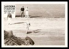sc2 1930s STOCK CAR Dirt Track Race CRASH Wreck CREW Cop ORIGINAL Feb 1956 Photo