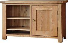 Bracken solid oak living room furniture television cabinet stand unit