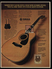 1977 YAMAHA FG-3755 Jumbo Folk Guitar VINTAGE Magazine ADVERTISEMENT