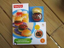 Fisher Price Servin Surprises Double Stack Hamburger Ketchup Mustard Burger Meal