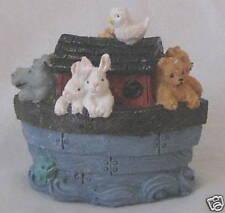 Blue Noah's Ark - Boat Figurine w Animals