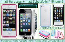 Hard Case matt Cover iPhone 5 G Handy Etui Tasche Bumper Schutz hülle Schale NEU