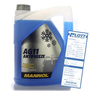 Mannol Kühlerfrostschutz Kühlmittel AG11 blau bis -40°C Frostschutz 5L MN4011-5