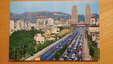 Cartolina Postcard CARACAS Avenida Bolivar viaggiata 1965 con francobolli