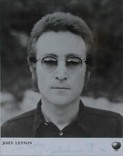 John Lennon The Beatles Apple Photo Signed Autograph w/ Caricature Lost Weekend