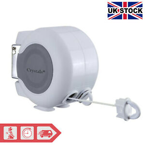 30m Retractable Outdoor Reel Washing Line Double Wall Mounted Washing Line - NEW