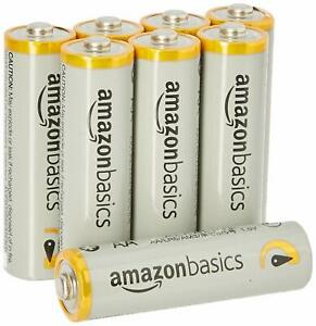 AmazonBasics Pile Stilo Alcaline AA Performanti, confezione da 8 pezzi