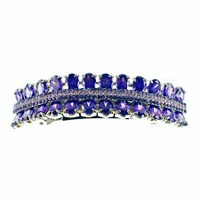 USA BARRETTE use Swarovski Crystal Hair Clip Hairpin Elegant SIMPLE Purple K07