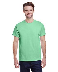Gildan G500 Adult Mint Green  S T shirt Heavy 5.3 oz 100% Cotton Blanco camiseta