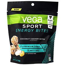 Vega Sport Energy Bites, Fuel Your Workout 5.6 oz, 4 Servings Coconut Cashew