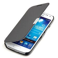 Samsung Galaxy S4 Mini Hülle Tasche Case Schutz Hülle Etui Cover Book schwarz
