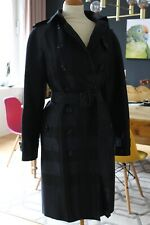 BURBERRY LONDON Satin Trenchcoat Mantel dunkelblau Gr. 36