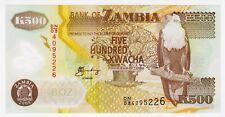2008 Zambia 500 Kwacha Unc 4095226 Polymer Money Banknotes Currency