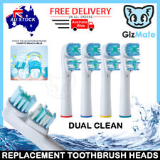Oral-B Dual Clean Electric Toothbrush Replacement Brush Heads - 4 Piece