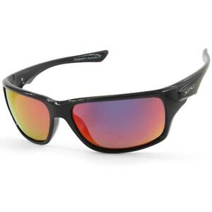 Dirty Dog Ice 53533 Shiny Black/Red Fusion Mirror Men's Polarised Sunglasses