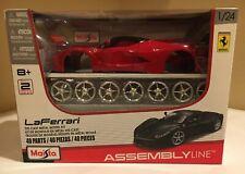 Maisto 1:24 Assembly Line LaFerrari Diecast Vehicle. Brand New, Ferrari Red