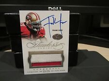 Panini Flawless Silver On Card Autograph Jersey 49er's Frank Gore  23/25  2014
