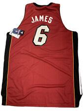 New Lebron James Miami Heat Mens Size 2XL Adidas Red Swingman Rare Jersey NWT