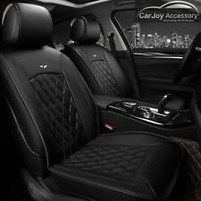 Pure Black Leather Car Seat Cover for Hyundai i30 ix35 Tucson Elantra Sonata