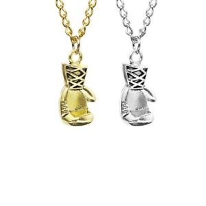 Silver Gold Boxing Glove Pendant Hip Hop Chain Men Women Boys Fashion Necklace