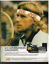Publicité Advertising 1980 TV Hi-Fi Audio Video JVC Bjorn Borg
