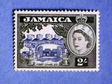 Jamaica. QE2 1956 2s Blue & Bronze-Green. SG170. Wmk Mult Script CA. P13½. MH