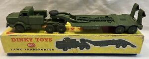 Dinky Tank Transporter 660 Boxed
